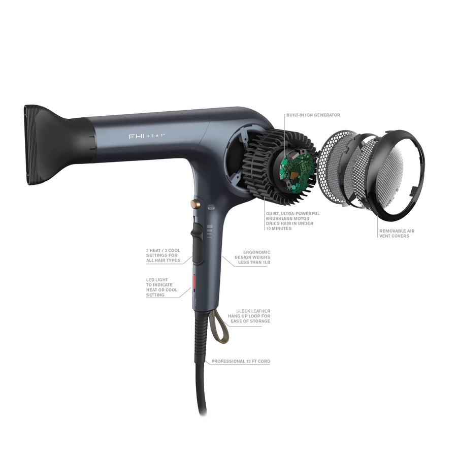 Brushless Motor Hair Dryer: Accelerate, ultra-lightweight, powerful, durable - white background