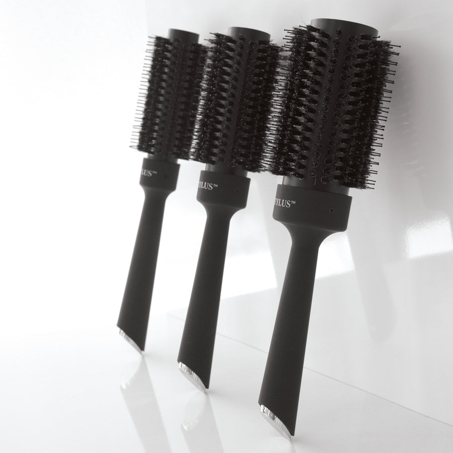 "Blow Out Ceramic Boar Brush - 1 3/4"" - front view"