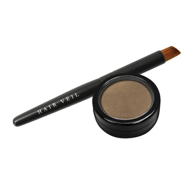 Hair Veil Powder Hair Filler - Dark Blonde - 0.14oz | 4g - diagonal tail brush and powder case