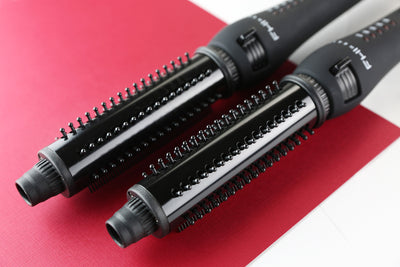 "Platform Sphere Retractable Thermal Curler Brush - 1.25""- perspective view"