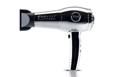 Nano Lite Pro 1900 Hair Dryer  - Limited Chrome Collection - Grey Chrome - side view