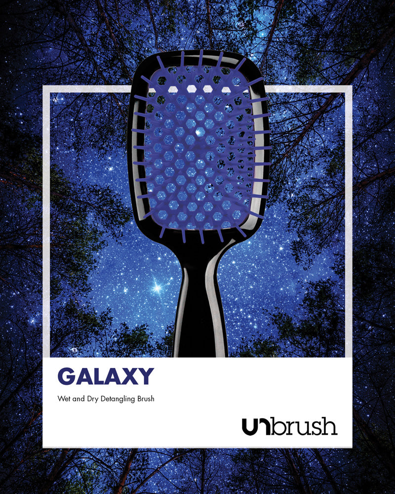 UNbrush Detangling Hair Brush - Galaxy Blue