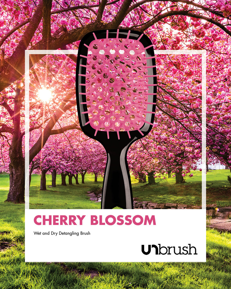 UNbrush Detangling Hair Brush - Cherry Blossom