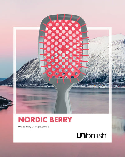 UNbrush Detangling Hair Brush - Nordic Berry