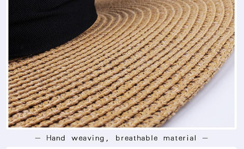 The Calypso Panama Straw Hat Hand Woven - Hiphatter
