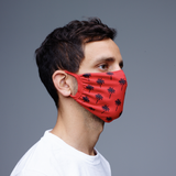 Face Mask (2-Pack) Palm Tree Red - HipHatter