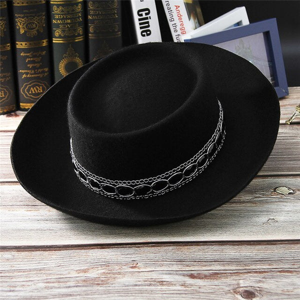 The Old Town Road: Wide Brim Porkpie Fedora Hat - HipHatter