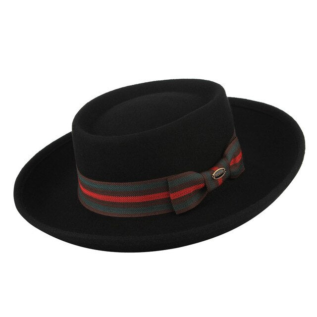 Italia-Black-Wide-Brim-Pork-Pie-Hat-Mens-Hiphatter