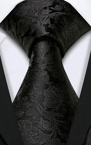 Luxury Silk Blend Paisley Jacquard Woven Neck Tie - HipHatter