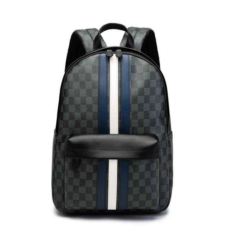 Classic French Grey Checkered Backpack - HipHatter