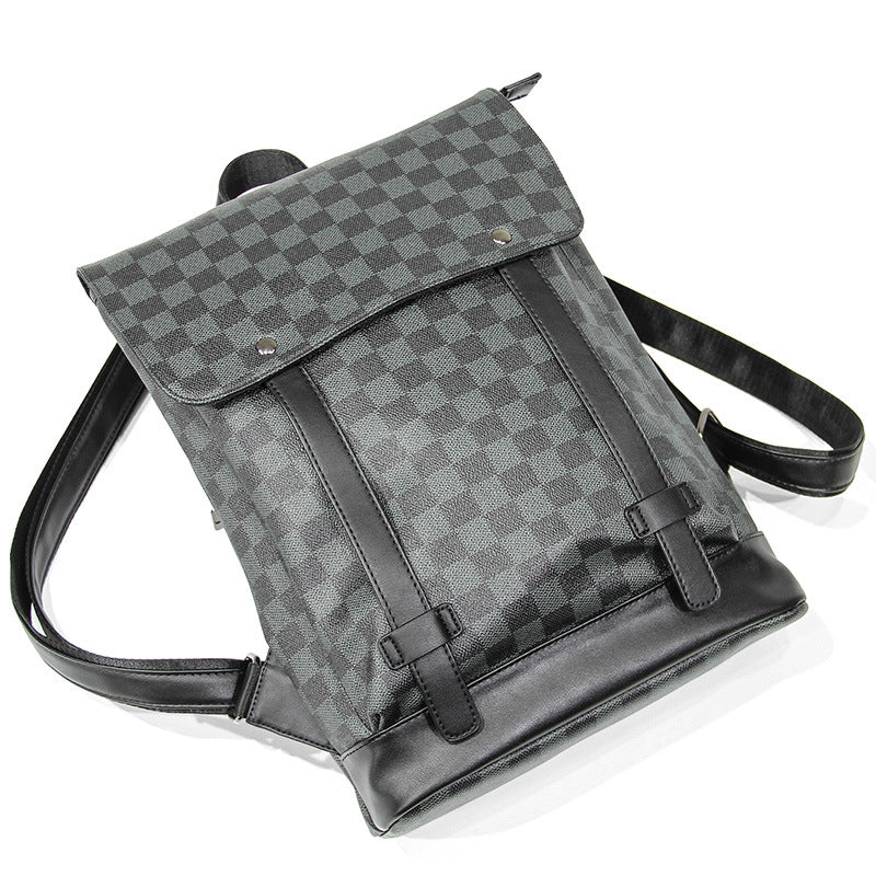 Classic French Grey Checkered Satchel Backpack - HipHatter