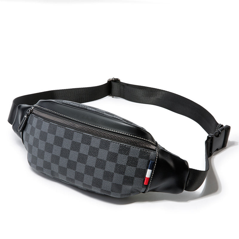 Classic French Grey Checkered Small Items Bag - HipHatter