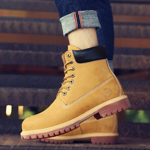 Insulated Outdoor Nubuck Tan Boots - HipHatter