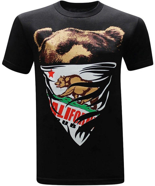 California Republic Bandana Bear T-Shirt - HipHatter