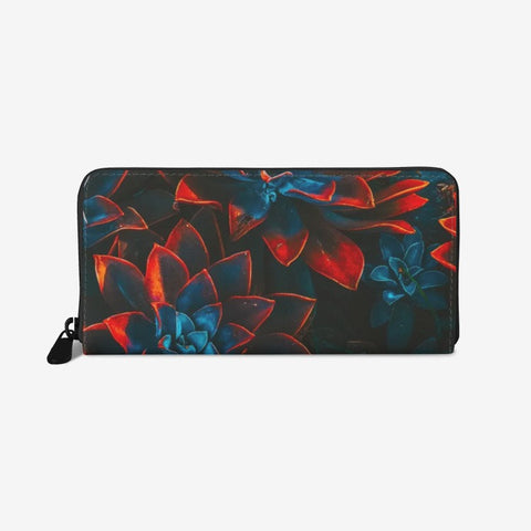 Autumn Flower Premium PU Leather Wallet - HipHatter
