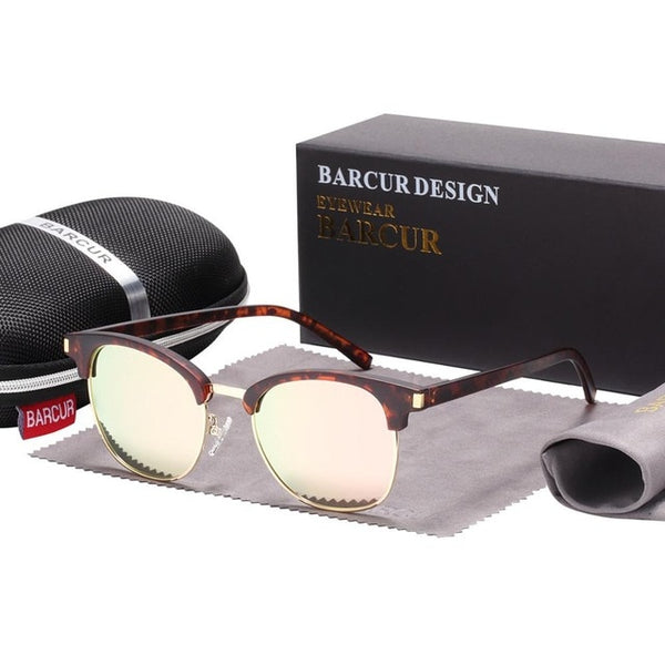 BARCUR Polarized Brown Tortoiseshell Shades - HipHatter