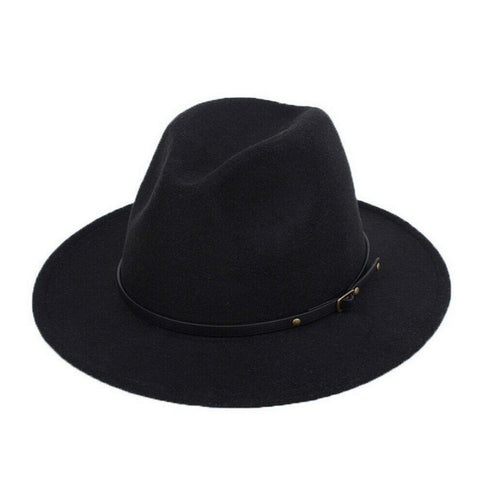 Tight Fitted Wide Brim Fedora - HipHatter