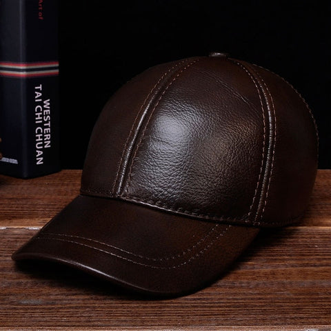Gwan Skipper George! Leather Baseball Hat - HipHatter