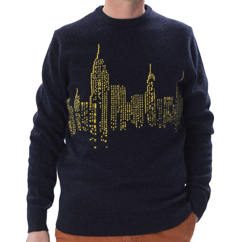 Navy City Sweater - HipHatter