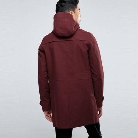 Mens Hooded Trench Coat - Hip-Hatter