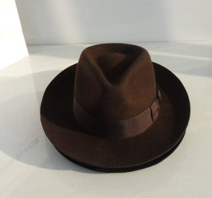 The New Yorker : Wool Derby Style Fedora Hat - HipHatter