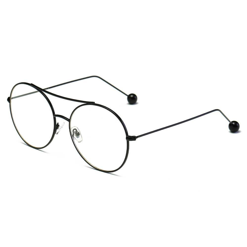 EUREKA | S1016 - Unisex Round Clear and Tinted Lens Aviator Glasses - HipHatter