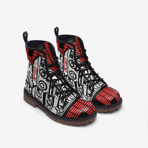 Bass in The City Printed Leather Lightweight Boots - HipHatter