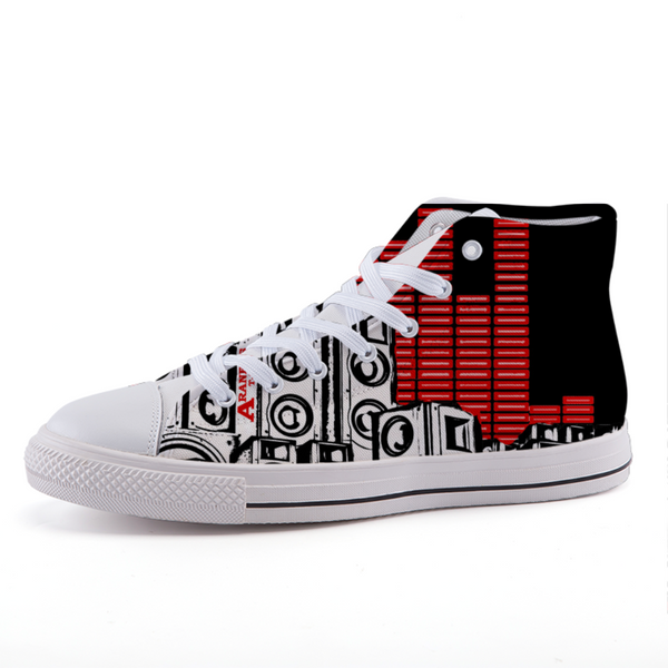 Bass In The City: High Top Sneakers by Araneus A.D.W. - HipHatter