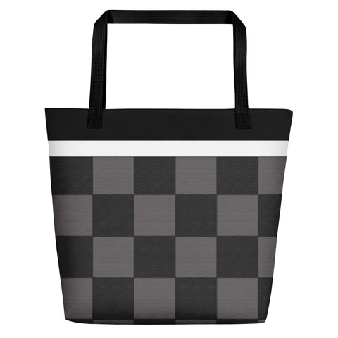 Checkered Tote Shopping Bag - HipHatter