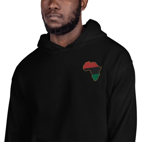 Pan African Embroidered Unisex Hoodie - HipHatter