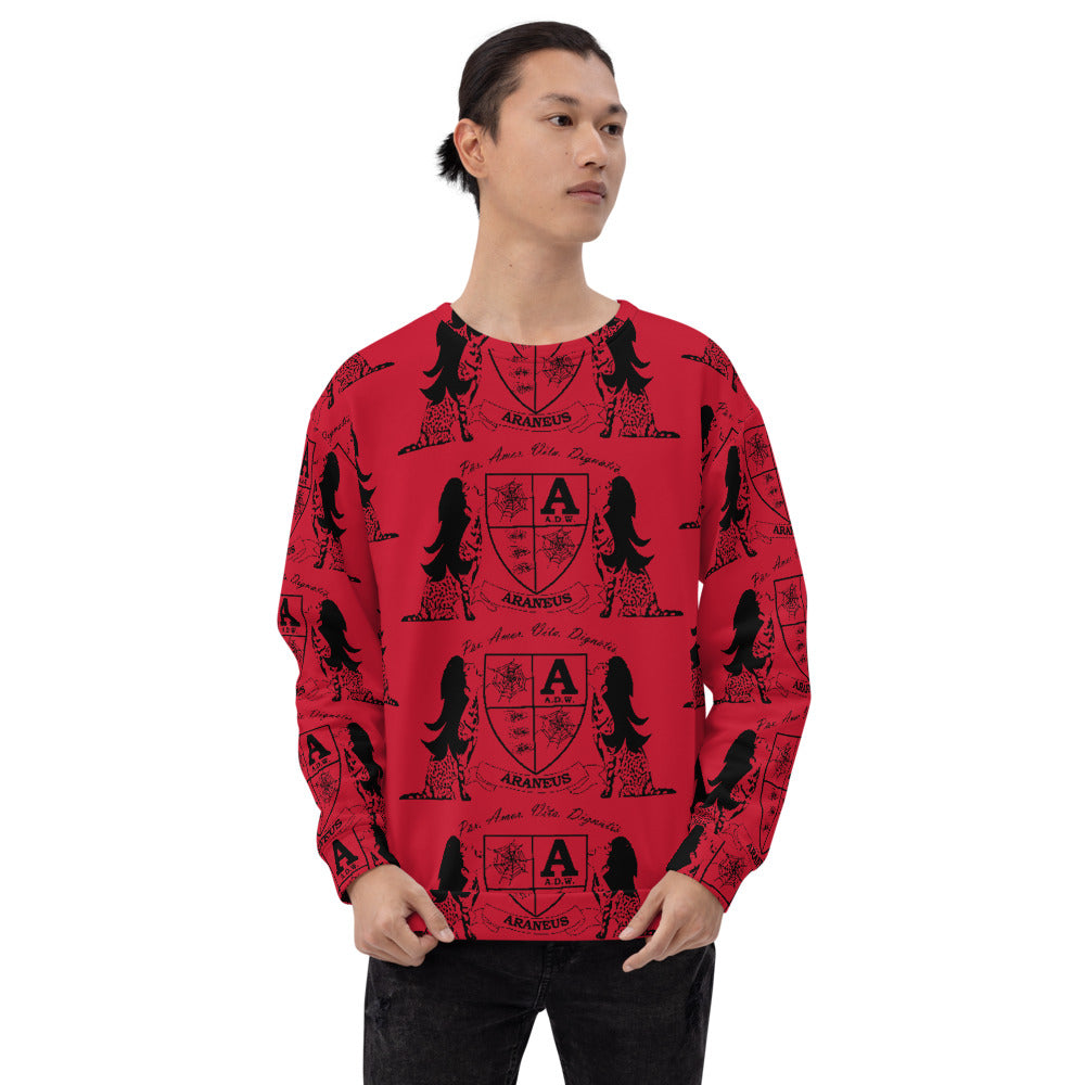 Red Crest Sphinx Kiss Sweatshirt - HipHatter