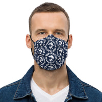 Hip-Hatter Logo Navy Blue Face Mask - HipHatter