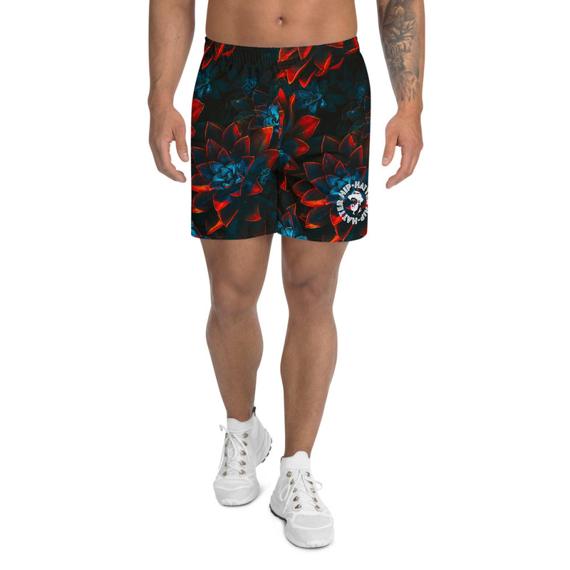Autumn Flowers Men's Floral Athletic Long Shorts - HipHatter