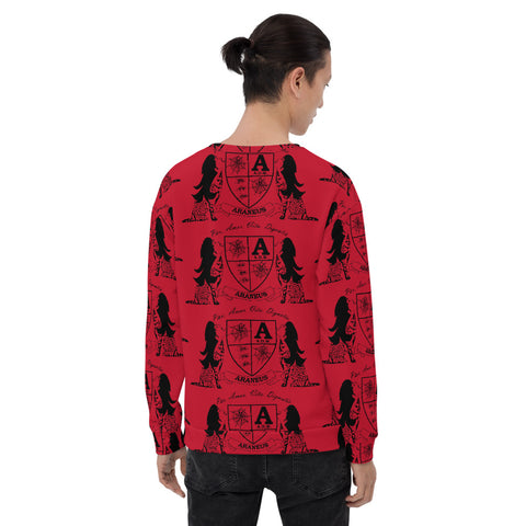 Red Crest Sphinx Kiss Sweatshirt - Hip-Hatter