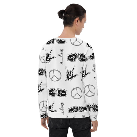 Peace Love Life Respect Sweatshirt - Hiphatter