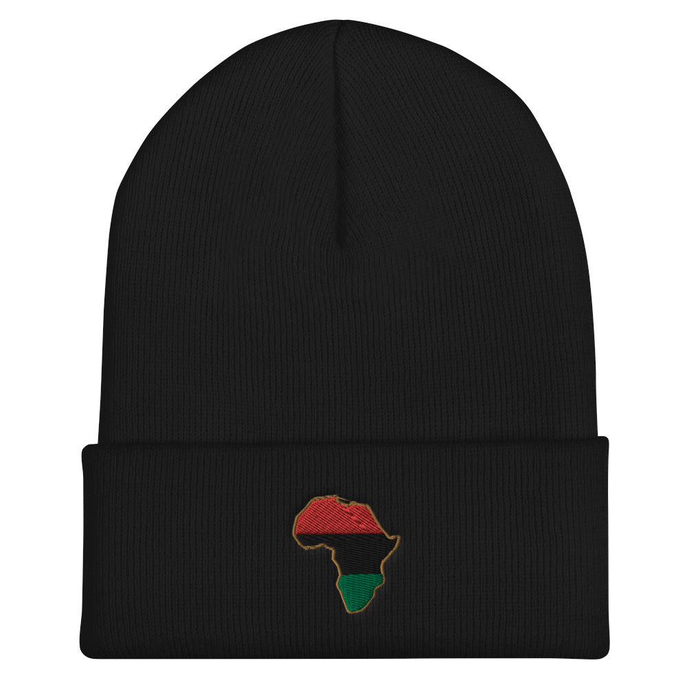 Pan African Cuffed Beanie - HipHatter