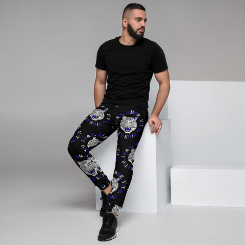 Real Tiger Motto Joggers Blue - HipHatter