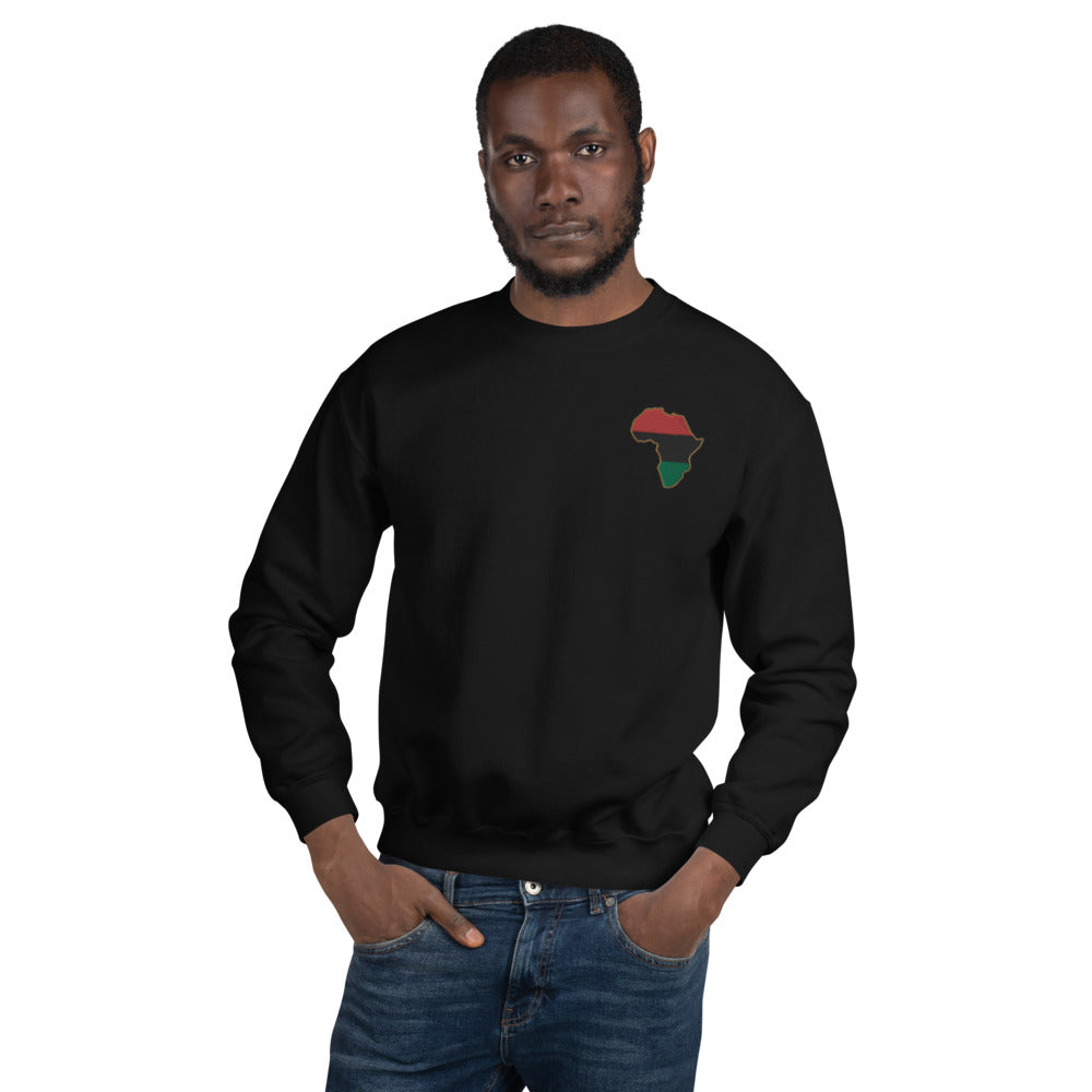 Pan African Embroidered Unisex Sweatshirt - HipHatter