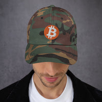 Bitcoin Logo Dad Hat - HipHatter
