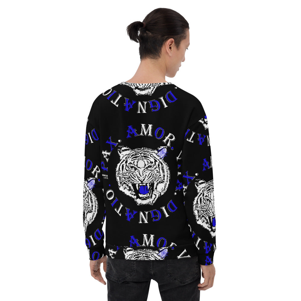 Real Tiger Motto Sweatshirt Blue - HipHatter