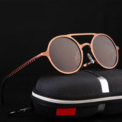 Keeper - Coffee - Men's Sunglasses - Round Sunglasses - Crissado