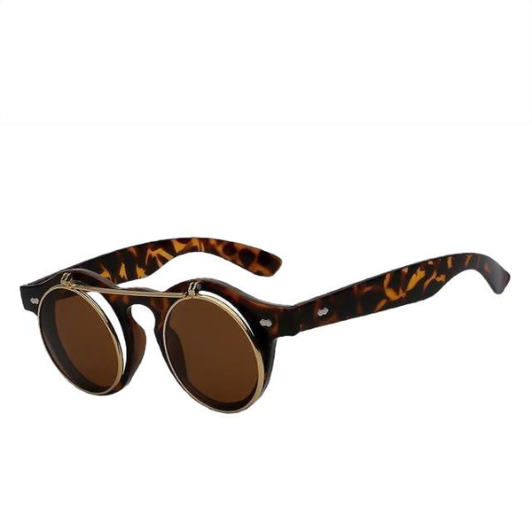 IMPERATOR - Leopard w brown - Men's & Women's Sunglasses - Flip Up Sunglasses - Crissado