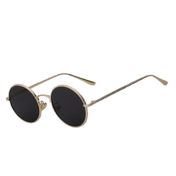 Skizzle - Gold w black - Men's Sunglasses - Round Sunglasses - Crissado