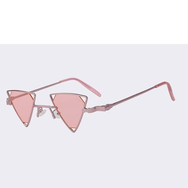 Terrassa - Rose gold w sea pink - Women's Sunglasses - Steampunk Sunglasses - Crissado