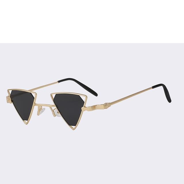Terrassa - Gold w black - Women's Sunglasses - Steampunk Sunglasses - Crissado