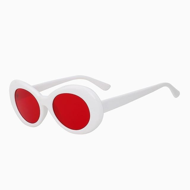 Yodacloud - White w sea red - Women's Sunglasses - Round Sunglasses - Crissado