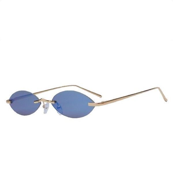 Gogogox - Gold w blue mirror - Women's Sunglasses - Vintage Sunglasses - Crissado
