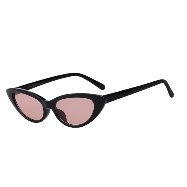 Lingox Sunglasses-Black w sea pink-Women's Sunglasses-Cat Eye Sunglasses-Lensuit