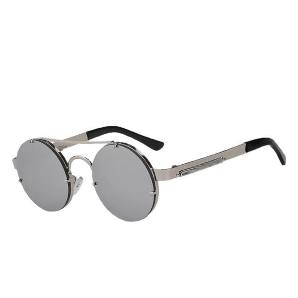 Foxclore - Silver mirror lens - Men's & Women's Sunglasses - Steampunk Sunglasses - Crissado