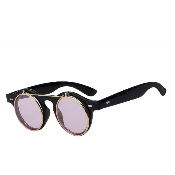 IMPERATOR - Black w sea pink - Men's & Women's Sunglasses - Flip Up Sunglasses - Crissado